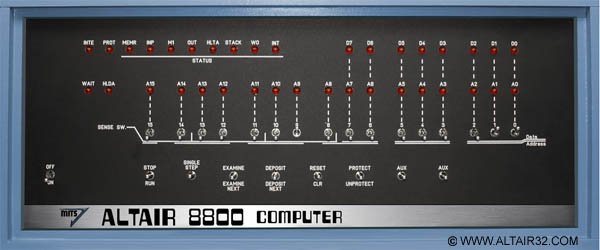 Altair 8800 Computer Altair 32 Emulator Altair Front